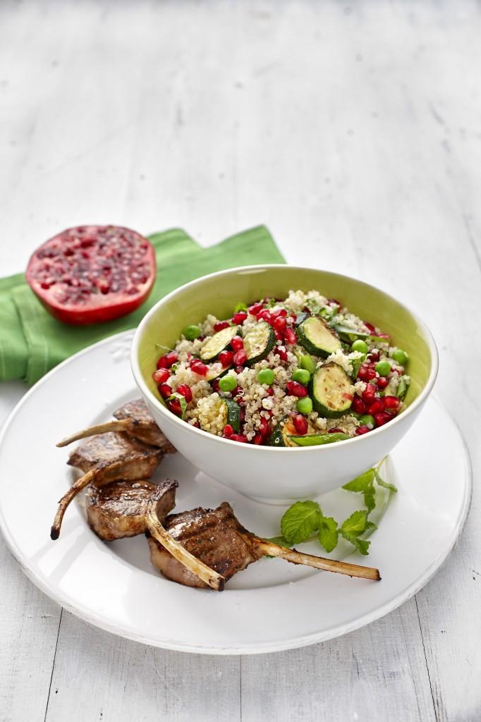 Quinoa Salad With Lamb Cutlets Recipe