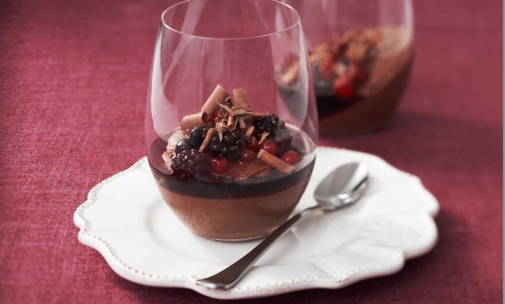Silken Chocolate Pots With Shiraz Syrup Recipe
