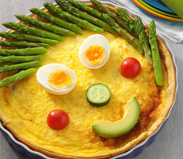 Funny Face Ham Leek and Swiss Cheese Quiche: Australian Eggs