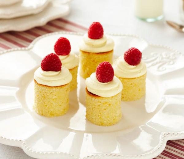 Tiny White Chocolate and Raspberry Mudcakes
