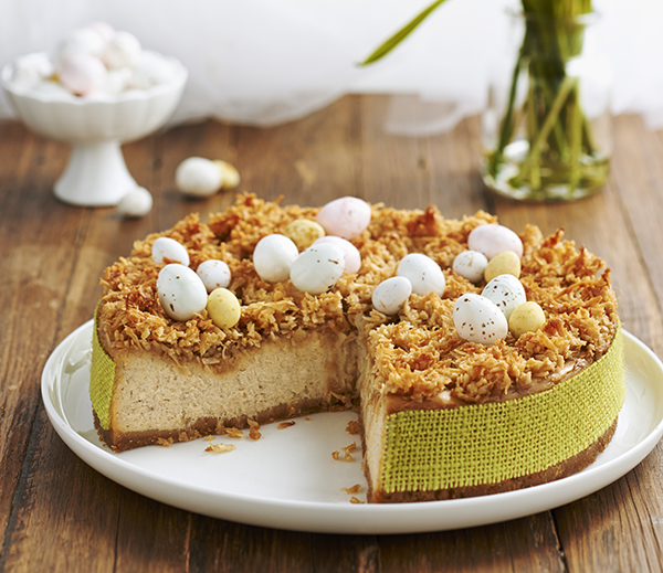 Baked Vanilla Spice Cheesecake with Coconut Topping - The Dairy Kitchen