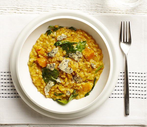 Pumpkin, Spinach & Blue Cheese Risotto - The Dairy Kitchen