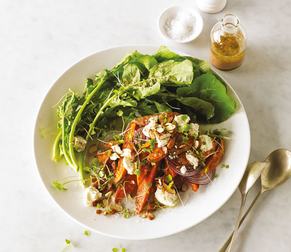 Sweet-potato,-feta,-toasted-tamari-almond-salad
